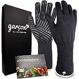 Premium Grillhandschuhe hitzebeständig bis zu 500 °C - 36 cm extrem lange Ofenhandschuhe im 2er Set - feuerfeste Handschuhe zum Kochen, Grillen oder Backen