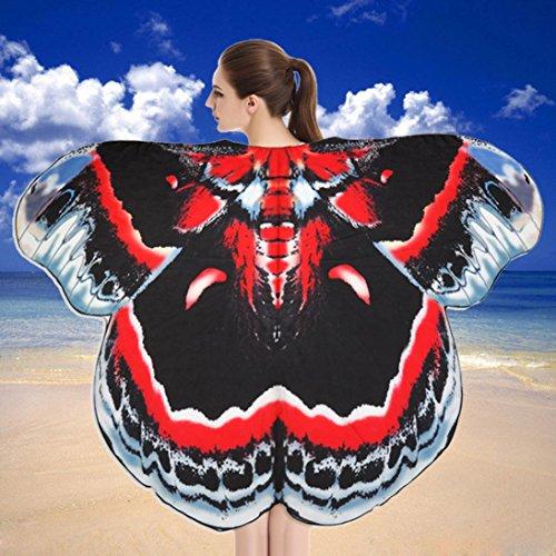 weicher Stoff Schmetterlingsflügel Schal Strand Badetücher Fee Damen Nymph Pixie Kostüm Zubehör (C) ()