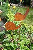 Gartenstecker Set Schnecke 2 x 60cm Metall Rost Gartendeko Edelrost