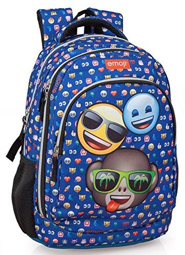 Ergonomischer Schulrucksack Emoji Rucksack Sporttasche (3 Friends - Emoji)