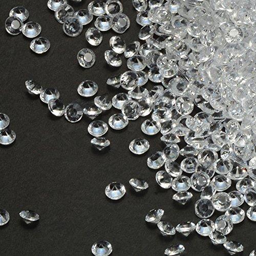PePeng Confezione da 5000 confettini decorativi da tavola, per 6 - 8 tavoli, in materiale acrilico, colore blu, per matrimonio Clear