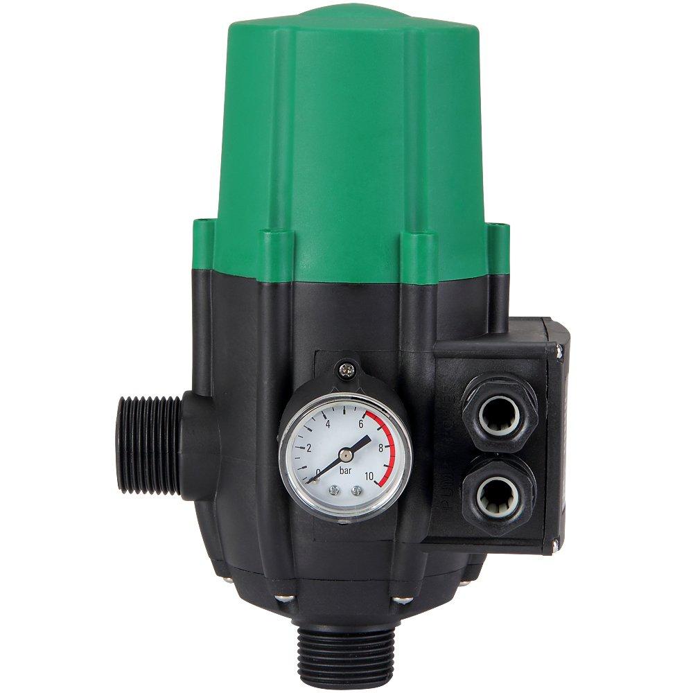 Monzana® Pumpensteuerung mit Baranzeige Druckwächter Druckschalter Modell ohne Kabel 10 bar überwacht den Wasserdruck…