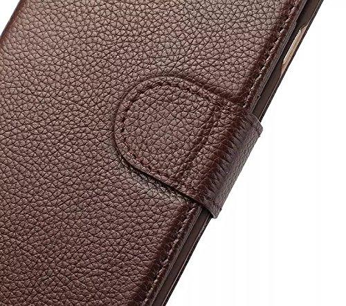 EKINHUI Case Cover Luxus Echtleder Fall Horizontale Flip Folio Stand Beutel Brieftasche Fall Deckung mit magnetischen Buckle & Card Slots für IPhone 6 & 6s ( Color : Rose ) Rose