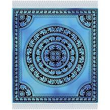 Fouta estampado Gigante 210 x240 cm 100% algodón elefantes azul