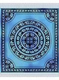 Fouta Estampado Riese 210X240cm 100% Baumwolle Elefanten blau