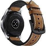 Myada para 22mm Correas Galaxy Watch 46mm Piel, Correa Samsung Gear S3 Frontier Cuero, Correas Samsung Gear S3 Classic Reempl