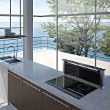 BEST Strip Glas HF (07758050) versenkbare Haube / Edelstahl + Glas / Schwarz / 84 cm