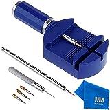 MMOBIEL Kit con strumenti di riparazione regolabili per orologiai con 3x pin aggiuntivi 1x pinza a molla 1x Punteruolo…