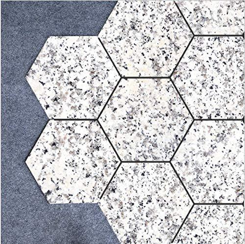 Weißen Granit-fliesen (uphold Awake Kreative Weißer Granit Sechseckige Fliesen Aufkleber Wohnzimmer Badezimmer Dekoration DIY Wasserdicht Abnehmbare Wandaufkleber 10 Stück)