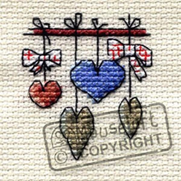 mini counted cross stitch kit Mouseloft Stitchlet Peacock