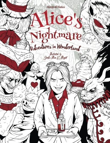 Alice's Nightmare - Adventures in Wonderland - Adult Coloring Book: (Horror, Halloween) (Halloween Painting Crafts)