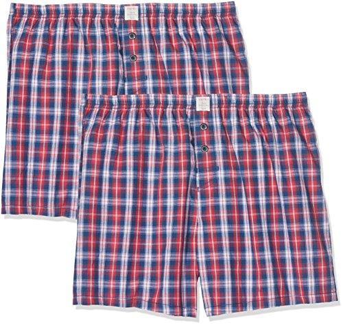 ESPRIT Herren Körperbekleidung Chicago 2 Woven Shorts, Rot (Red 630), Small (Herstellergröße: 4) (Karo-boxer-unterwäsche)