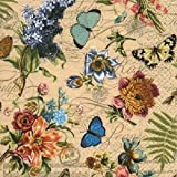 4x servilletas de papel, diseño vintage de verano–Ideal para decoupage/Decopatch