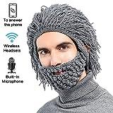 CoCo Fashion Mütze mit integrierten Bluetooth-Kopfhörern Grau