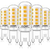 Eco.Luma Ampoule G9 LED 5W Equivalent 33W 40W G9 Halogène, 420LM, Mini Lampe, Blanc Chaud 3000K, Sans Scintillement, AC220-24
