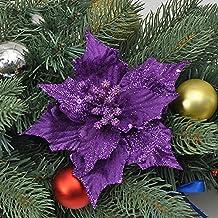 Toyfun - 10 Flores Artificiales para árbol de Navidad, Decoraciones de Flores Artificiales para Boda