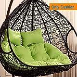 SXFYMWY Silla de Huevo Colgante Cojín Mimbre Huevos de Mimbre Sillas Cushions Thick Nest Chair Back Pads (excluyendo la Silla Colgante),B