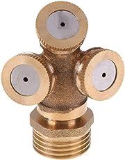 Tomtopp Adjustable Mist Nozzle Thread Brass Garden Water Cooling Sprinkler(3 Holes)