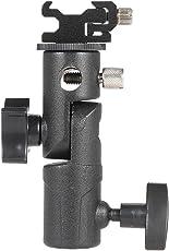 Awakingdemi Flash Bracket,Metal Camera E Type Flash Shoe Umbrella Holder Mount Light Stand Bracket Swivel