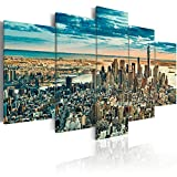 murando - Acrylglasbild New York 200x100 cm - 5 Teilig - Bilder Wandbild - modern - Decoration d-B-0069-k-n