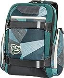 """Local Daypack Multifunktionsrucksack mit Board Tragesystem, Rucksack mit 15"""" Laptopfach, einfacher Schulrucksack, Basic Schoolbag, 27 L, 1151-878040_FRAGMENTS GREEN, 640 g"""