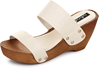 Funku Fashion White Wedges Heels
