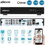 KKmoon 8CH Canales AHD DVR NVR Full 1080N/720P (HDMI P2P, Network Onvif, Grabador de Video Digital, Soporta Plug y Play, Android/iOS APP, Detección de Movimiento, Email Alarma, PTZ para 2000TVL CCTV Cámara de Vigilancia)