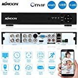 KKmoon 8CH Canales AHD DVR NVR Full 1080N/720P (HDMI P2P, Network Onvif, Grabador de Video Digital, Soporta Plug y Play, Android/iOS APP, Detección de Movimiento, Email Alarma, PTZ para 2000TVL CCTV Cámara de Vigilancia)