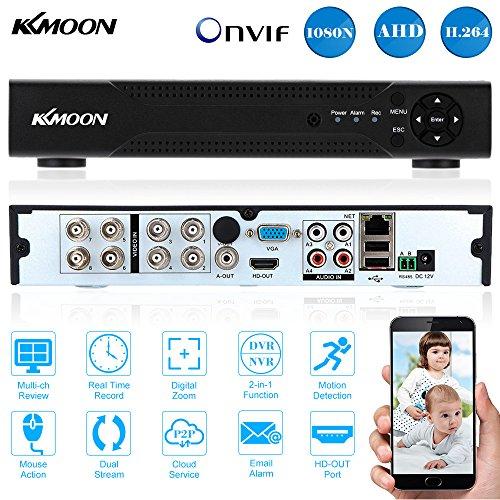 KKmoon 8 Kanal 720P CCTV Netzwerk DVR Digital Video Rekorder H.264 HDMI Haussicherheitssystem - Festplatte Dvr-dvd-rekorder