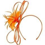Roman Originals - Tocado para mujer, diseño floral con plumas