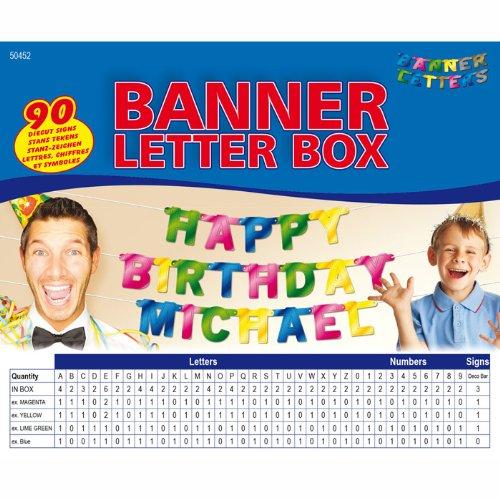 n Box, 90-tlg. (Individuelle Geburtstags-banner)