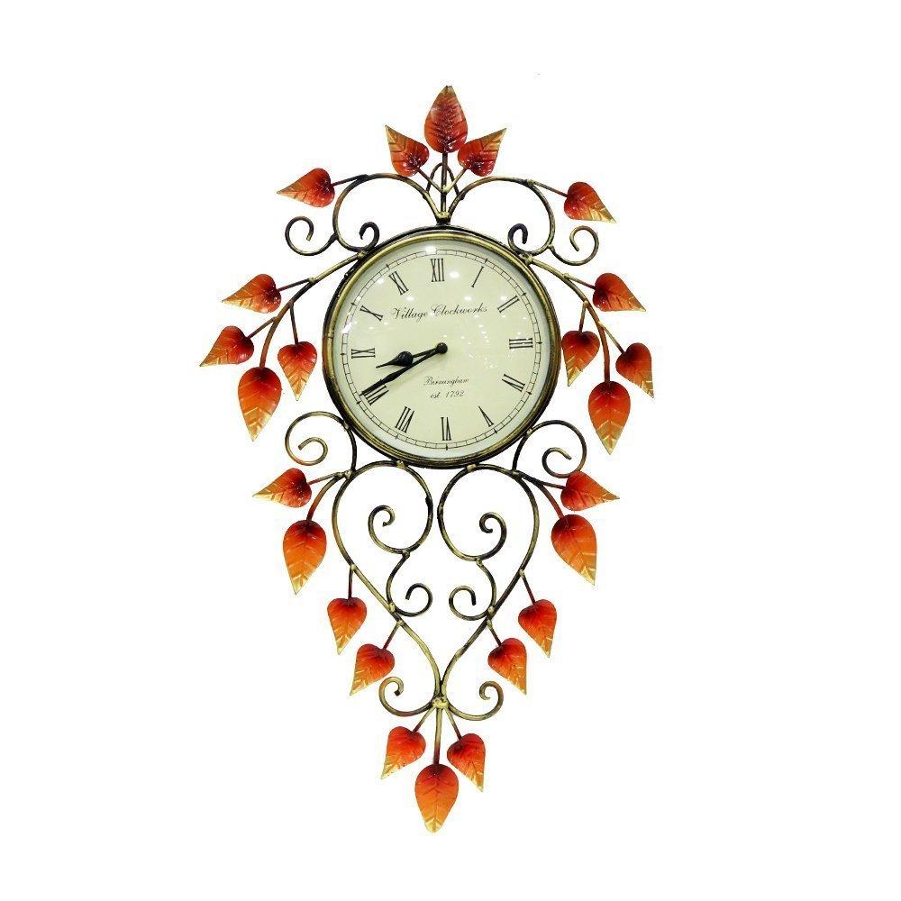 Iron Orange Color Antique Clock