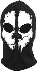 Fortag Unterschiedliche Sturmhaube Geister Schädel-Maske Gesichtshaube Balaclava Windmaske Skimaske Motorradmaske für Herren Damen Outdoor Sports Motorrad Ski Snowboard Call of Duty Ghost Skull Maske