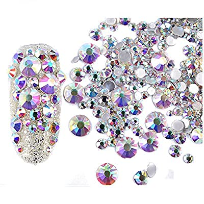 240Pcs Nail Art Rhinestones DIY Decoration Glitter - Mix Sizes