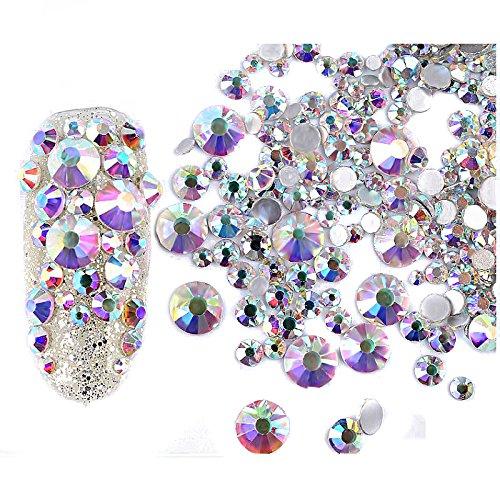 Gemischte Glitter Nagel Art strassstein Dekoration, 240 Stück