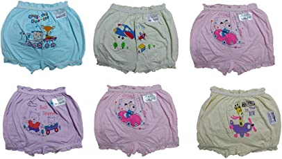 BODYCARE 100% Cotton-Hosiery Cartoon Printed Bloomer for Girls and Kids [Pack of 6]