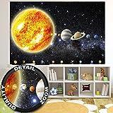Fototapete Sonnensystem Planeten Wandbild Dekoration Galaxie Cosmos Space Universum All Sky Sterne Galaxy Weltraum Earth | Foto-Tapete Wandtapete Fotoposter Wanddeko by GREAT ART (210x140 cm)