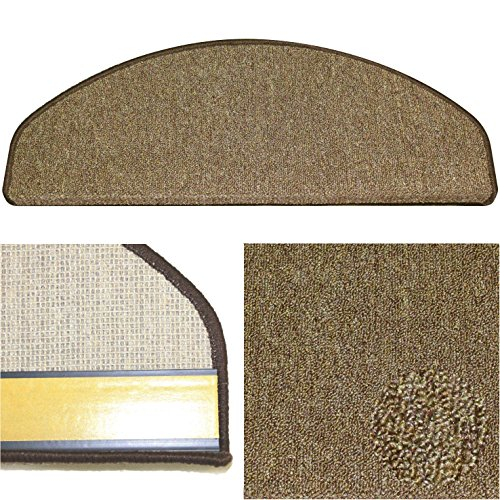 Karat 60 braun, Schlingen Stufenmatte aus deutscher Produktion, mit Sicherheitswinkel, solider Verarbeitung und wohnlichen Farben