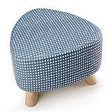 TDDT Chair-Removable Wash Schuhe für Den Wechsel Hocker im europäischen Stil Stoff Sofa Hocker Schuhe Hocker Massivholz Sitz Pier Home Bequem,39 * 28cm,Blau