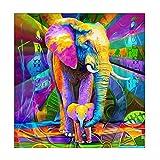 Astory DIY 5d Diamant-Bohrer, Strass-Stickerei, Kreuzstich-Bild für zu Hause, Dekoration diamond painting elephant