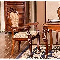 Toma un Taburete Sillas Laterales Americanas sillas de Comedor de Madera Maciza sillas de Tela sillas