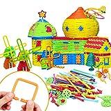Peradix Bastoni Morbidi Giochi Educativi e Crestivi Costruzioni per Bambini da 2 anni al 8 anni (155 pezzi)