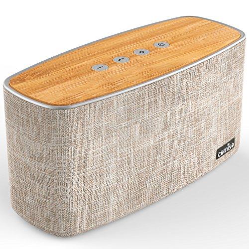 COMISO Bluetooth Lautsprecher, 30W Kraftvoll Bass Tragbarer Wireless Lautsprecher Premium Stereo Bluetooth 4.0 Speaker Boombox Bassverstärker mit Microphone, Aux Input