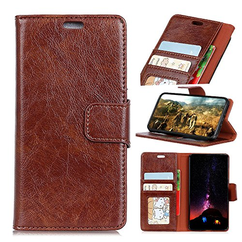 Happon Wallet Case Designed for Oppo A73S Phone [mWallet Folio Style] [Stand Feature] Protective PU Leather Flip Cover with Credit Card Slots+Side Cash Pocket+Magnetic Clasp Closure