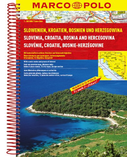 Preisvergleich Produktbild MARCO POLO Reiseatlas Slowenien, Kroatien, Bosnien und Herzegowina 1:300.000 (MARCO POLO Reiseatlanten)