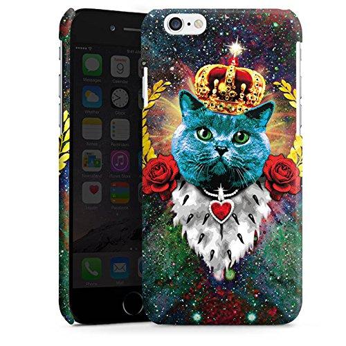 Apple iPhone 6 Housse Étui Silicone Coque Protection Chat bleu Roi Chat Cas Premium brillant