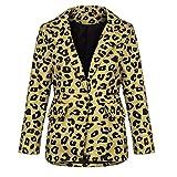 iHAZA Strickjacken Leopardenmantel Damen Vordere Jacken öffnen Oberbekleidung