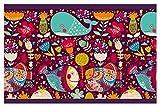 I-love-Wandtattoo Kinderzimmer Bordüre Borte Fische Unterwasserwelt Wal Kinder selbstklebend