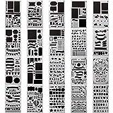 20 Stück Schablone Bullet Journal Set über 1000 verschiedenen Mustern Kunststoff Planer DIY Zeichnen Vorlage 10,2 x 17,8 cm Schablone Malen für Journaling Scrapbooking Karte und Kunst-Projekte