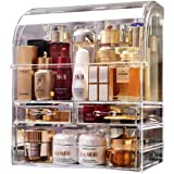 MOOCHI Professional Large Cosmetic Makeup Organizer Dust Water Proof Cosmetics Storage Display Case with Drawers Portable For
